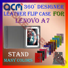 ACM-ROTATING 360° LEATHER FLIP STAND COVER CASE for LENOVO A7 TABLET TAB PROTECT