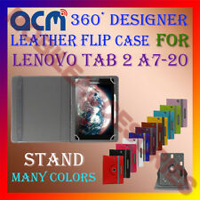 ACM-ROTATING 360° LEATHER FLIP STAND COVER CASE for LENOVO TAB 2 A7-20 TABLET