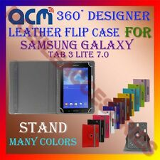 ACM-ROTATING 360° LEATHER FLIP STAND COVER CASE for SAMSUNG TAB 3 LITE 7.0 TAB