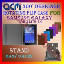 "ACM-DESIGNER ROTATING 360° 7"" COVER CASE STAND for SAMSUNG GALAXY TAB 3 LITE 7.0"