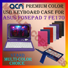"ACM-USB COLOR KEYBOARD 7"" CASE for ASUS FONEPAD 7 FE170 TABLET COVER STAND NEW"