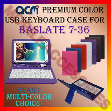 """ACM-USB COLOR KEYBOARD 7"""" CASE for BASLATE 7-36 TABLET COVER STAND PROTECTION"""