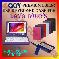 "ACM-USB COLOR KEYBOARD 7"" CASE for LAVA IVORYS TABLET TAB COVER STAND PROTECTION"