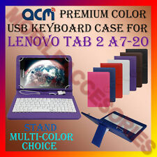 "ACM-USB COLOR KEYBOARD 7"" CASE for LENOVO TAB 2 A7-20 TABLET TAB COVER STAND NEW"