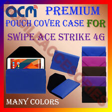ACM-PREMIUM POUCH LEATHER CARRY CASE for SWIPE ACE STRIKE 4G TABLET TAB COVER