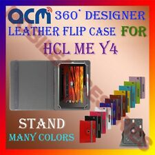 ACM-ROTATING 360° LEATHER FLIP STAND COVER CASE for HCL ME Y4 TABLET TAB PROTECT