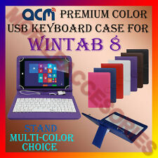 "ACM-USB COLOR KEYBOARD 8"" CASE for WINTAB 8 TABLET TAB LEATHER COVER STAND NEW"