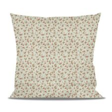 Shabby Chic Roses on Green Fleece Cushion - Heart, Round or Square Shaped Pillow