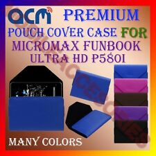 ACM-PREMIUM POUCH LEATHER CARRY CASE for MICROMAX FUNBOOK ULTRA HD P580i COVER