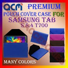 ACM-PREMIUM POUCH LEATHER CARRY CASE for SAMSUNG TAB S 8.4 T700 TAB COVER HOLDER