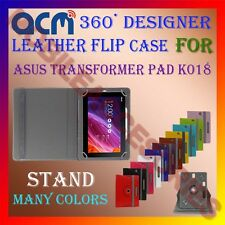 ACM-ROTATING 360° LEATHER FLIP STAND COVER CASE for ASUS TRANSFORMER PAD K018