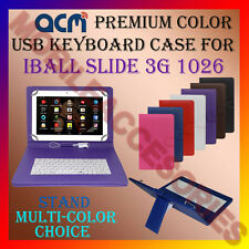"""ACM-USB COLOR KEYBOARD 10"""" CASE for IBALL SLIDE 3G 1026 TAB LEATHER COVER STAND"""