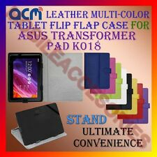 ACM-LEATHER FLIP MULTI-COLOR COVER CASE STAND for ASUS TRANSFORMER PAD K018 TAB