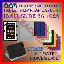 ACM-LEATHER FLIP MULTI-COLOR COVER CASE STAND for IBALL SLIDE 3G 1026 TABLET TAB