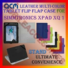 ACM-LEATHER FLIP MULTI-COLOR COVER CASE STAND for SIMMTRONICS XPAD XQ 1 TABLET