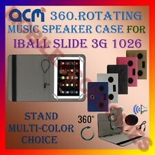 "ACM-PORTABLE MUSIC SPEAKER 360° ROTATING 10"" CASE for IBALL SLIDE 3G 1026 COVER"