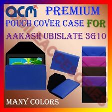 ACM-PREMIUM POUCH LEATHER CARRY CASE for AAKASH UBISLATE 3G10 TABLET TAB COVER