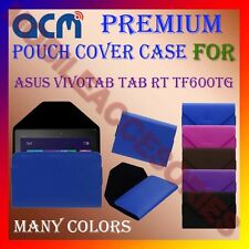 ACM-PREMIUM POUCH LEATHER CARRY CASE for ASUS VIVOTAB TAB RT TF600TG TAB COVER