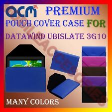 ACM-PREMIUM POUCH LEATHER CARRY CASE for DATAWIND UBISLATE 3G10 TAB COVER HOLDER