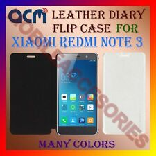 ACM-LEATHER DIARY FOLIO FLIP FLAP CASE for XIAOMI REDMI NOTE 3 FRONT/BACK COVER