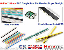 40 Pin 2.54mm Straight Raw Male Header PCB Pin Strips Colour DIY ARDUINO 4 8 UK