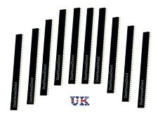 5 / 10 x 40pin 2.54mm Row Straight Female Pin Header socket Strip PCB Arduino UK