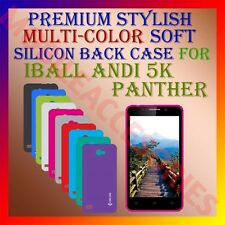ACM-PREMIUM MULTI COLOR SOFT SILICON BACK CASE for IBALL ANDI 5K PANTHER COVER