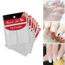 Manicure Nail Art Stickers French Tip Guides DIY gel polish Stencil Fringe Sheet
