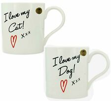Lesser & Pavey I Love My Dog/Cat Mugs Style-LP91937