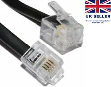 RJ11 to RJ11 Gold Plated ADSL BT Broadband Modem Internet Router Fax Cable UK