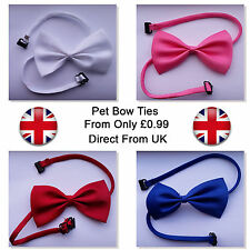 Dog / Cat Pet Adjustable Satin pet Bow Ties Various Colours