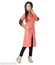 Fashionuma Designer Casual Wear Cotton Orange Kurti