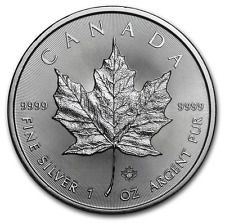 MAPLE LEAF 2016 $5 Canada once argent pure ounce oz silver 5 dollars