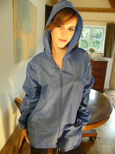 Raincoat New Royal Blue Hooded Long Waterproof Mac  Rain Wear Fashion