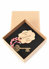 The Key To Success Vintage Charm, Gift for Graduation Exam Results Personalised