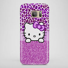Purple PRINTED Hello Phone Case Kitty Cat Cute Cover Phone case UK