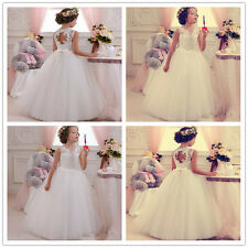 Peagant Girls Party dress Wedding dress Flower girl Dress ivory dress Princess-G