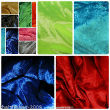 Crushed Velvet Fabric Craft Stretch Velour