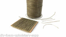 Khaki Strong 1mm thick waxed leather hand sewing stitching thread & needles