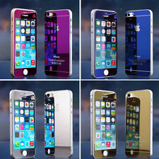 Apple iPhone 5s / iPhone 5 Luxury Front & Back Mirror Tempered Glass Protector