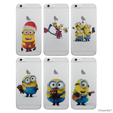 Case/Cover Apple iPhone SE 5s 5 + Screen Protector / Minion Silicone Clear Gel