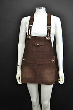 LADIES URBAN BEHAVIOUR CREAM/BEIGE/BROWN CORDUROY PINAFORE DRESS SIZE 10/12/14