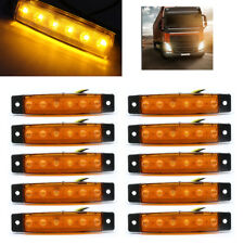 10pcs 12V 6 LED Side Marker Indicators Lights for Truck Trailer Bus Lamp UKStock