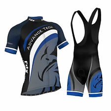 FDX Mens Cycling Jersey Team Cycling Clothing Jersey Bib Shorts Kit Shirt Sets