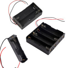 Plastic 1 2 4 18650 Battery 3.7V Clip Holder Storage Box Case With Wire Lead