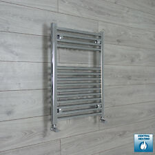 800 x 600 mm Flat / Curved Chrome Heated Towel Rail Radiator Central Heating HTR