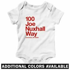 Cincinnati Baseball Stadium One Piece - Baby Infant Creeper Romper NB-24M - Reds