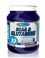 NRGFuel 100% Pure BCAA & Glutamine 500g branched chain amino acids powder