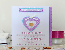 Baby personalised card. Baby girl/Baby boy. Pink blue BABY special greeting card