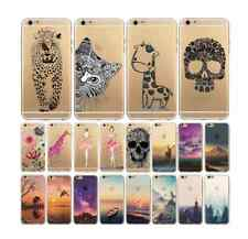 Ultra Soft TPU Transparent Flowers Animals Snow Mountain Case For Iphone 6 4.7""